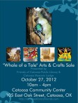 """Whale of a Tale"" Arts & Crafts Sale 2012 Event Poster"
